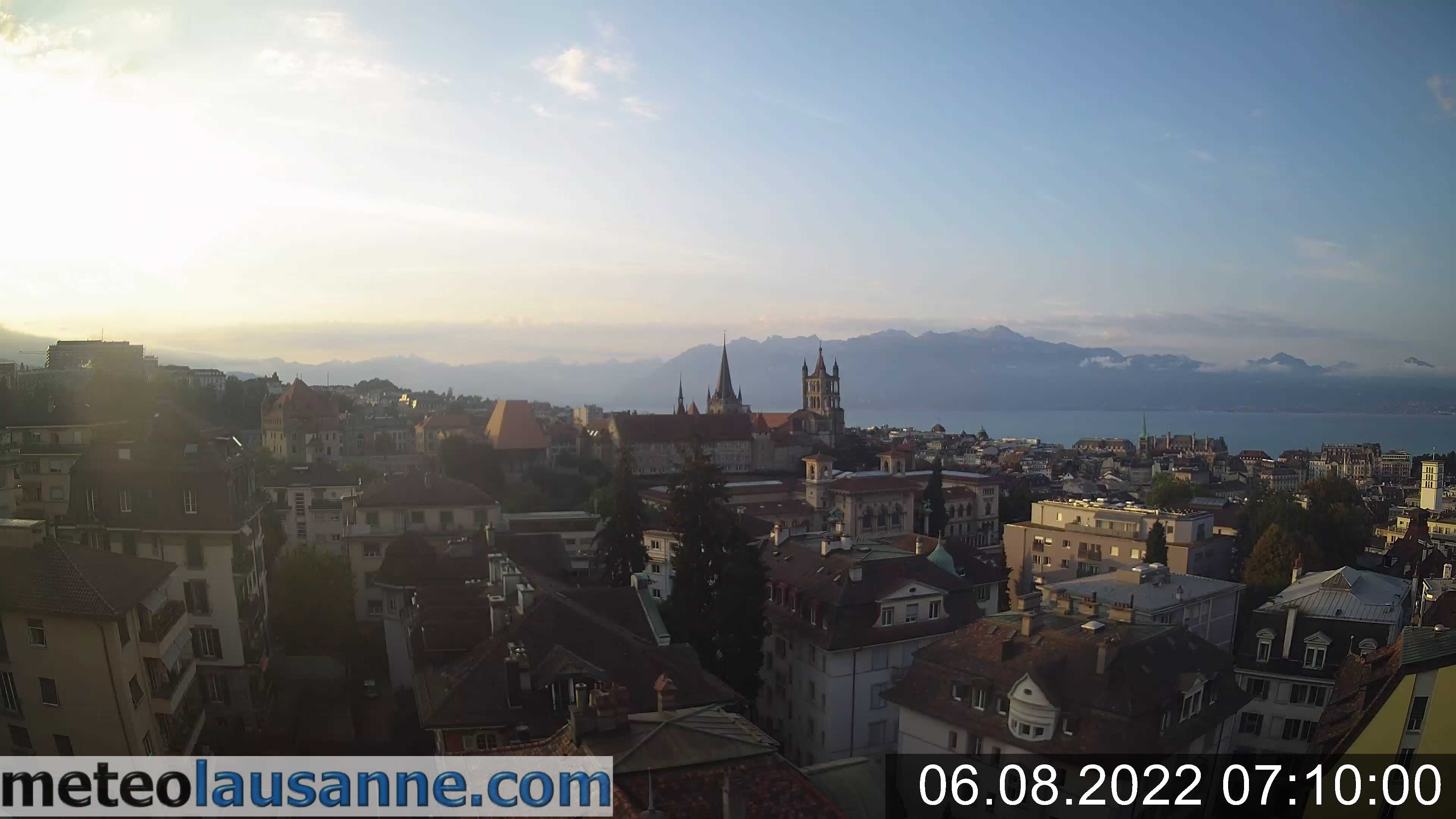 Webcam Lausanne Genfersee
